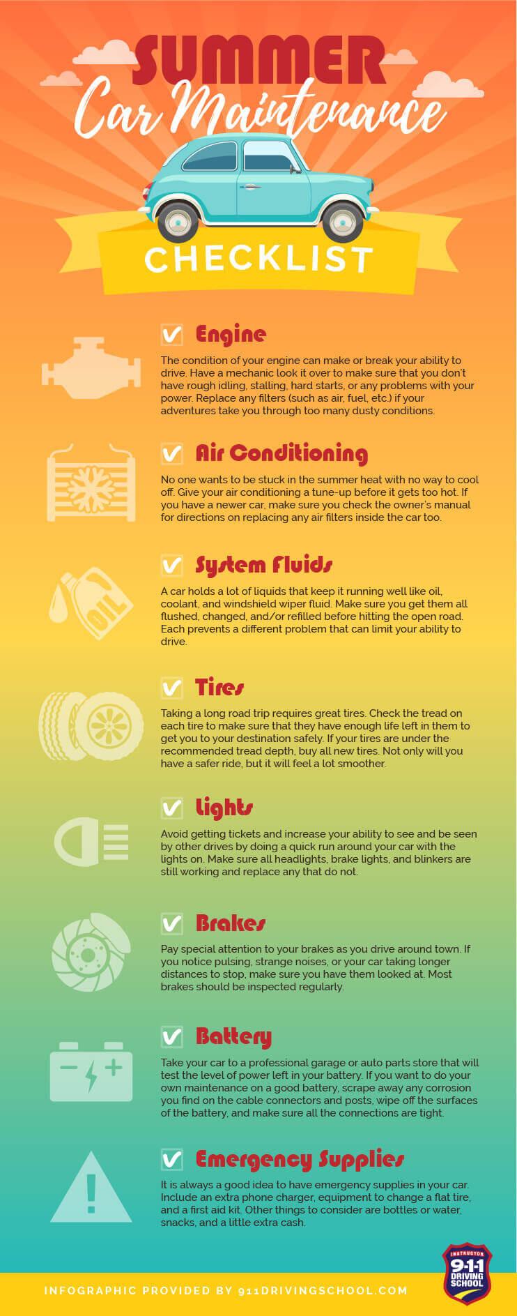 Summer Car Maintenance Checklist